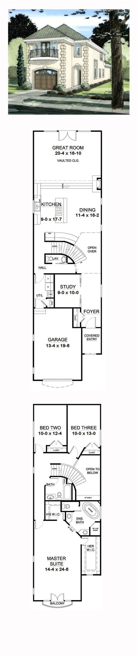 17 amazing house plans for narrow lots with front garage 17 best 1000 ideas about narrow house plans on pinterest