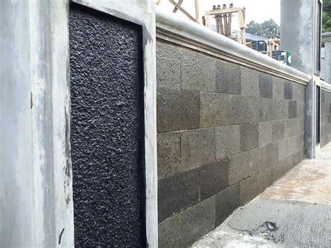 desain pagar minimalis modern model terbaru desain pagar batu alam  rumah minimalis