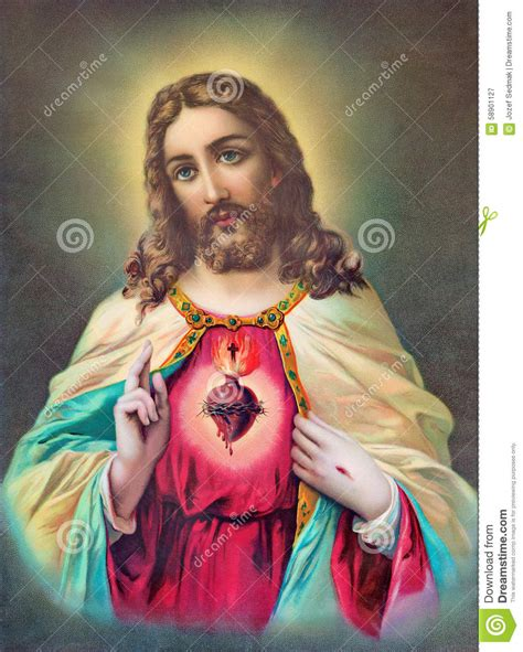 typical catholic image of of jesus from