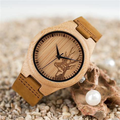 Jam Tangan Bambu Bobo Bird bobo bird jam tangan bambu analog pria wn20 brown