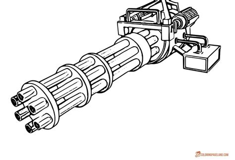 coloring pages guns gun coloring pages and print for free