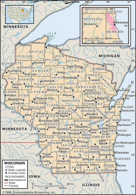 wi map state and county maps of wisconsin