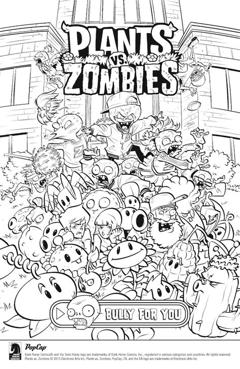 plants vs zombies coloring book for and books plants vs zombies bully for you 1 review roundup