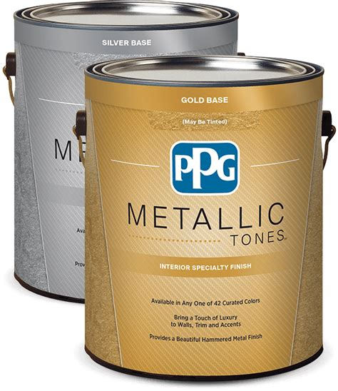 Best Paint For Home Interior by Ppg Metallic Tones