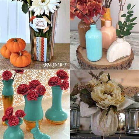 Diy Painting Glass Vases by Diy Spray Painted Glass Vases Tutorial Kenarry