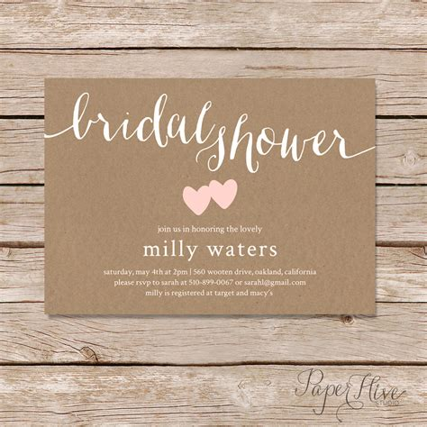 best 25 rustic bridal shower invitations ideas on pinterest