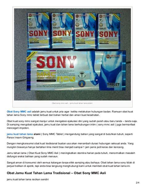 Sony Herbal jamu kuat tahan lama obat sony mmc tablet asli