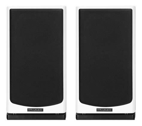 wharfedale reva 1 gloss white bookshelf speakers pair