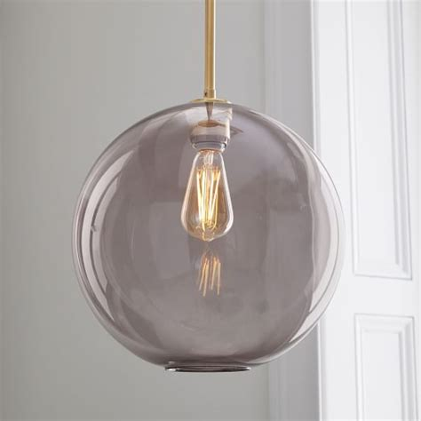 Sculptural Glass Globe Pendant Large West Elm Large Glass Globe Pendant Light
