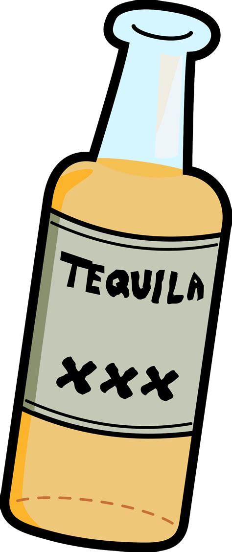 cartoon alcohol bottle clipart cartoon tequila