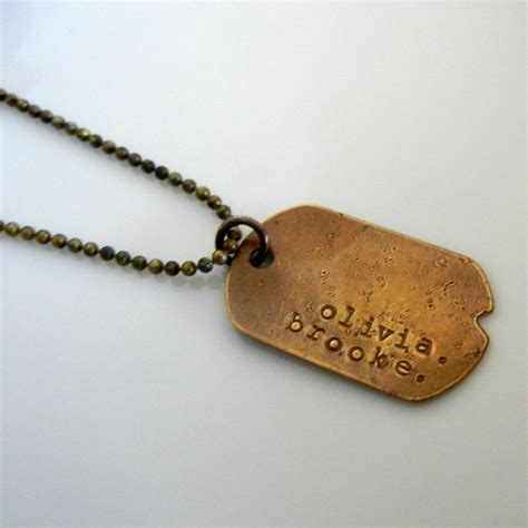 custom tag necklace personalized necklace tag style custom dogtag jewelry