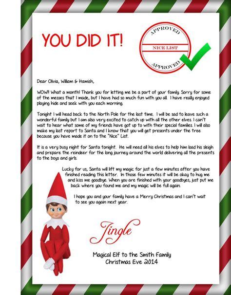 free printable goodbye elf 1000 ideas about elf goodbye letter on pinterest the