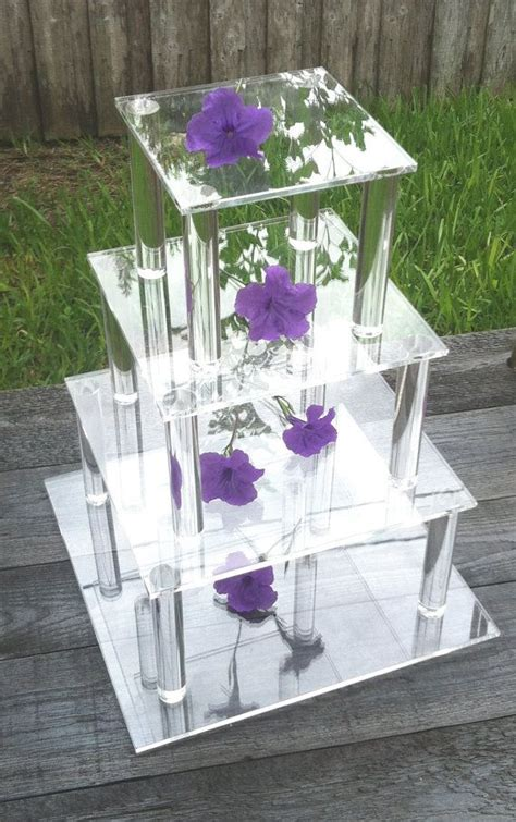 4 Tier Square Clear Acrylic Cupcake/Cake Stand by