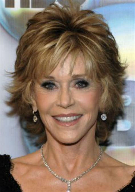 what color hair is jane fondas jane fonda haircuts shaggy bobs womanly waves and the