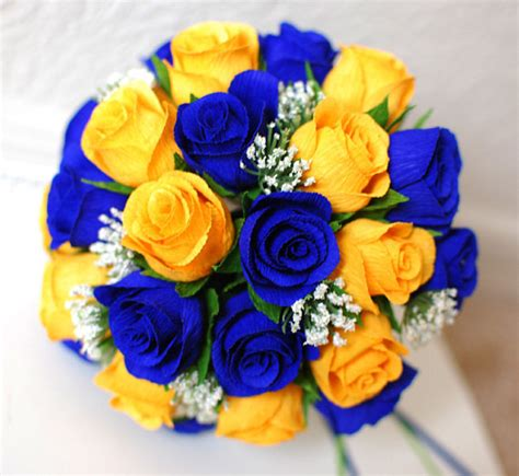 Blue Yellow Flower Tshirt T3010 1 items similar to wedding flower package with yellow