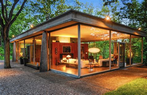 glass house ct van der rohe protege designed glass house for sale daily southtown