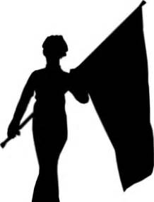 color silhouette color guard silhouette clipart best