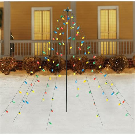 drapey christmas lights home accents 7ft 100l facected c9 multi led tree drape lights ty046 1713 the home depot