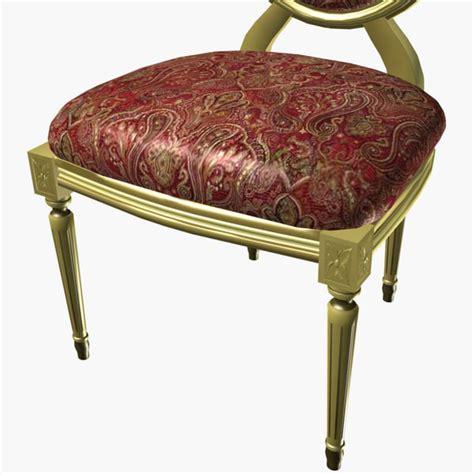louis xv stuhl 3d model louis xv chair