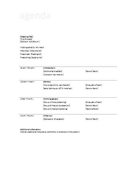 business meeting agenda template agenda template for business meeting search results