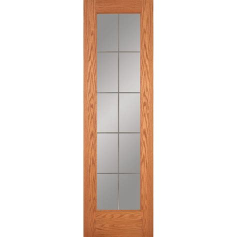 home depot interior slab doors feather river doors 24 in x 80 in 10 lite illusions woodgrain unfinished oak interior door