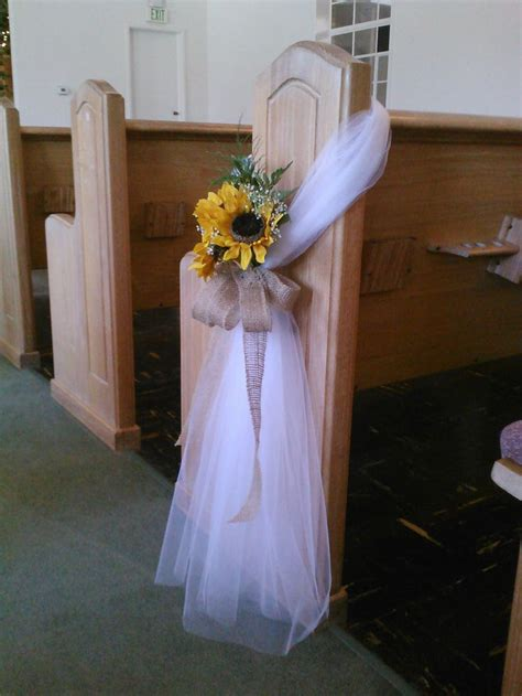 25 best ideas about tulle pew bows on church pew decorations wedding pew