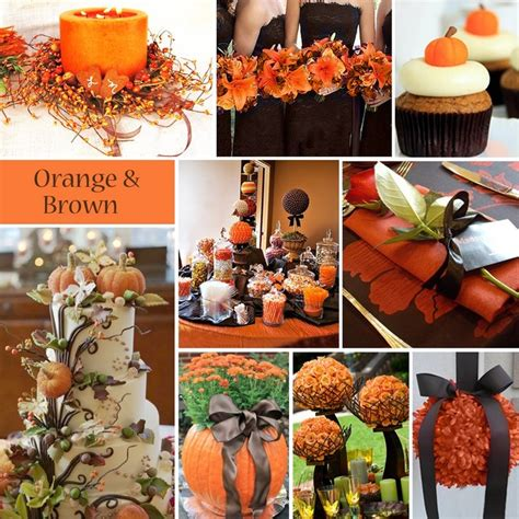 orange brown wedding ideas brown and orange wedding fall wedding fall wedding boquets