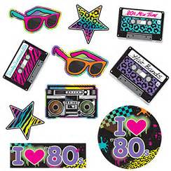 80er dekoration 80 s 80 s supplies decorations