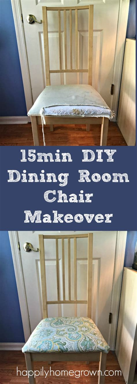 diy dining room chair makeover 15min diy dining room chair makeover happily homegrown