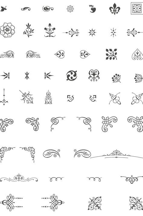 tattoo font embellishments 12 best designs patterns decor ornamentation