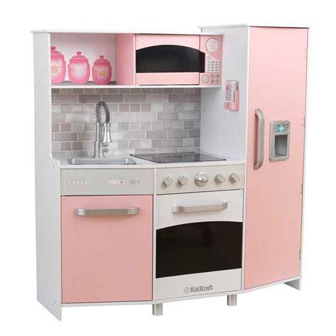 cocina kidkraft kidkraft spielk 252 che aus holz mit licht und sound rosa