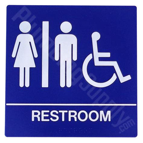 bathroom plaques restaurant office commercial restroom signs