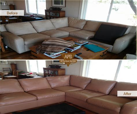 leather couch repair chicago leather furniture repairs color matching before and after