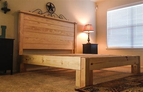 Handcrafted Bed Frames - rustic crafted bed frames with headboard