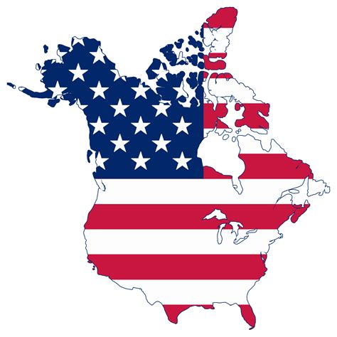 united states of america and canada map clipart 3d america map flag enhanced within of with
