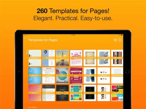 templates for ipad pages app templates for pages for ipad iphone ipod touch on the