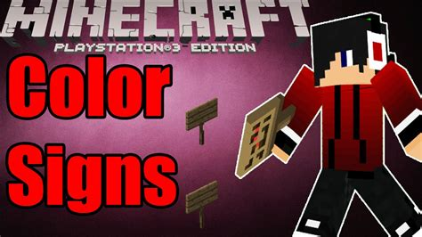 minecraft colored signs minecraft ps3 colored signs tutorial custom sign