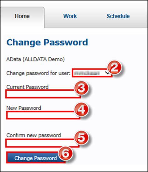 reset sbh online password how often do i need to change my password alldata support