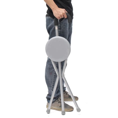 Portable Walking Chair Stool by Ipree Outdoor Travel Folding Stool Chair Portable Tripod
