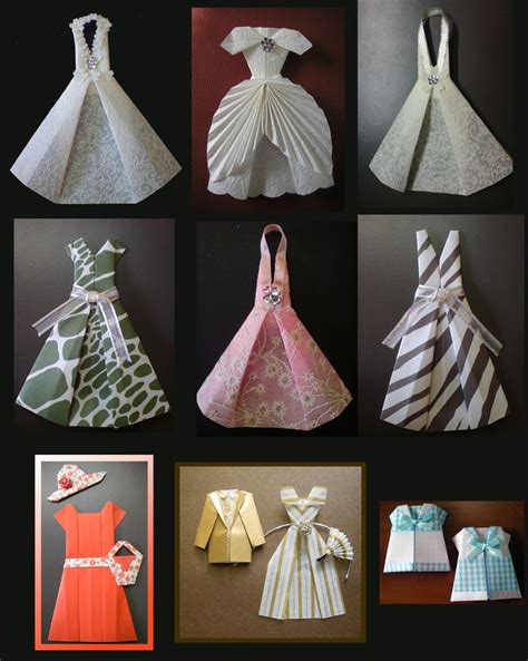Origami Dresses - 17 best images about origami doll clothes on