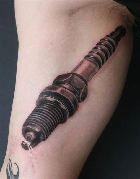 spark plug tattoo spark tattoos for pictures to pin on