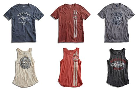 ford mustang clothes lucky brand launches new line of ford mustang t shirts and