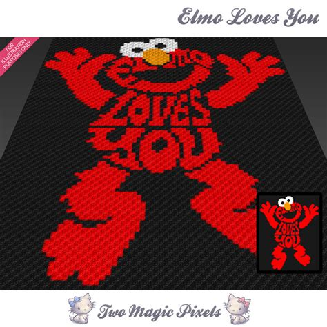 pattern magic 3 pdf free download elmo loves you crochet blanket pattern twomagicpixels
