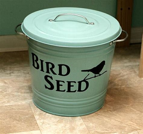 bird food storage bird seed storage bird by