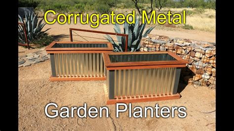 redwood  metal planters   youtube