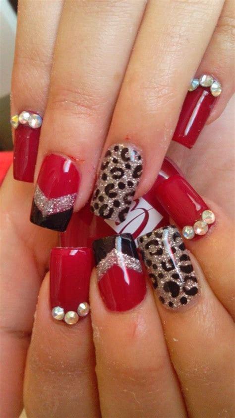 imagenes de uñas rojas y negras u 241 as de gelish bonitas rojas