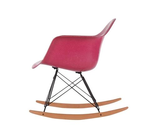 eames rocking chair fiberglass charles eames for herman miller pink fiberglass