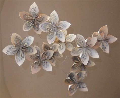 Origami Flower Mobile - sheet origami flower mobile aftcra
