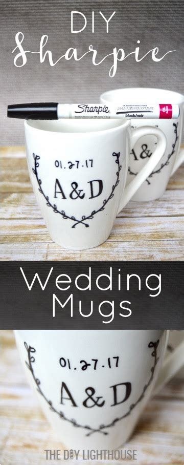 diy sharpie mugs wedding gift idea the diy lighthouse