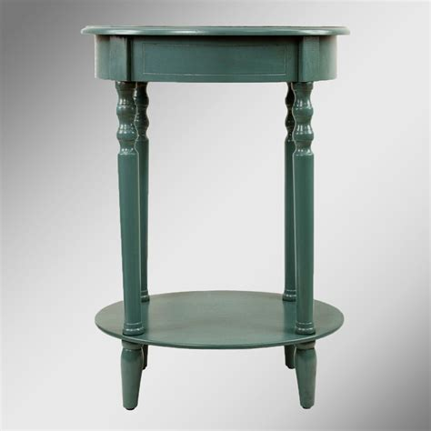 Teal Accent Table Reigna Teal Oval Accent Table
